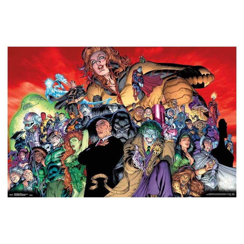 DC Comics Super Villains 23 x 34 Inch Poster
