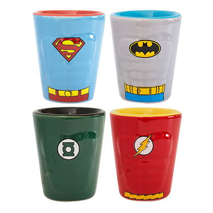 DC Heroes Shot Glass Four Pack