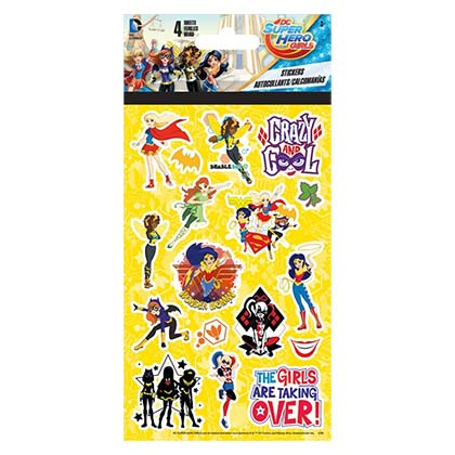 DC Comics Female Superheroes Sticker Set