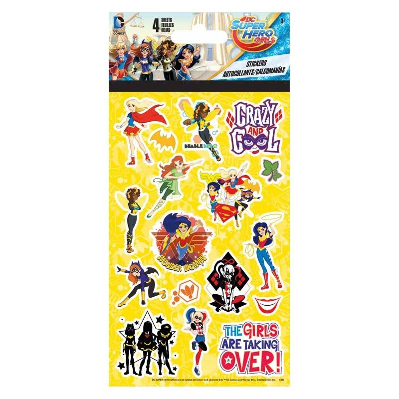 DC Comics Female Superheroes Sticker Set