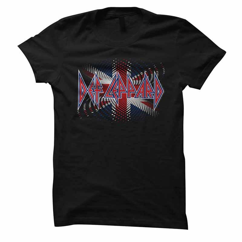 Def Leppard British Womens Black T-Shirt
