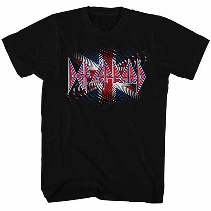Def Leppard British Mens Black T-Shirt