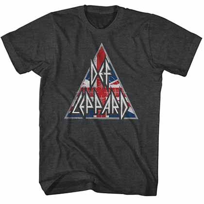Def Leppard Britlogo Mens Black T-Shirt
