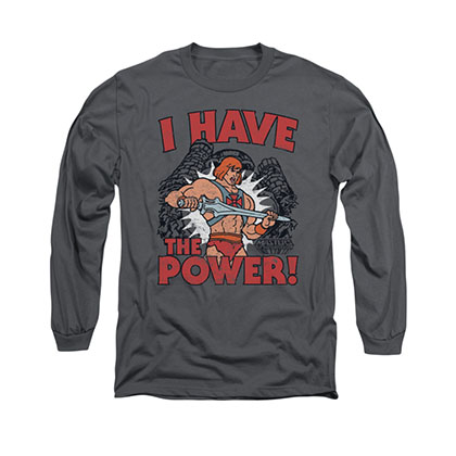 He-Man I Have The Power Gray Long Sleeve T-Shirt