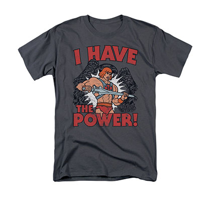 He-Man I Have The Power Gray Tee Shirt