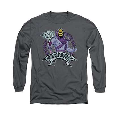 He-Man Skeletor Gray Long Sleeve T-Shirt