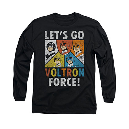 Voltron Force Black Long Sleeve T-Shirt