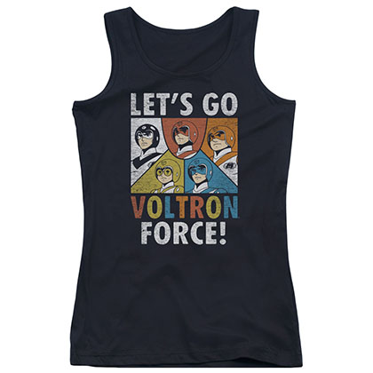 Voltron Let's Go Force Black Juniors Tank Top