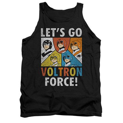 Voltron Let's Go Black Tank Top