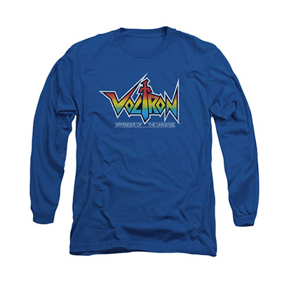 Voltron Logo Blue Long Sleeve T-Shirt