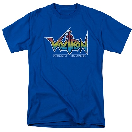Voltron Defenders of the Universe Logo Blue Tshirt
