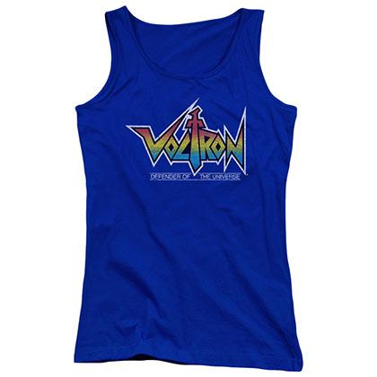 Voltron Logo Blue Juniors Tank Top