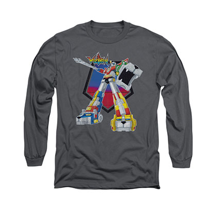 Voltron Blazing Sword Gray Long Sleeve T-Shirt
