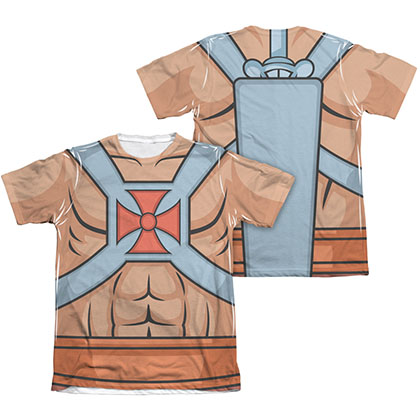 He-Man Masters Of The Universe Two-Sided Costume Sublimation T-Shirt