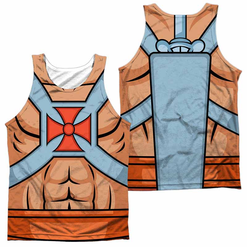 88b101a7ced58b Masters Of The Universe He Man Costumes Sublimation Tank Top