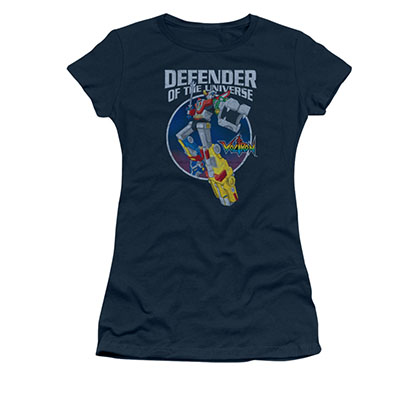 Voltron Defender Of The Universe Blue Juniors T-Shirt