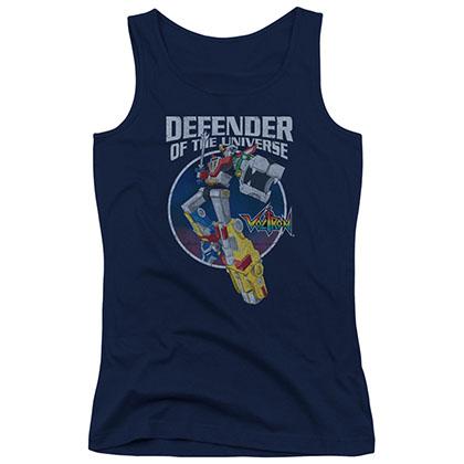 Voltron Defender Blue Juniors Tank Top