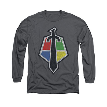 Voltron Sigil Gray Long Sleeve T-Shirt