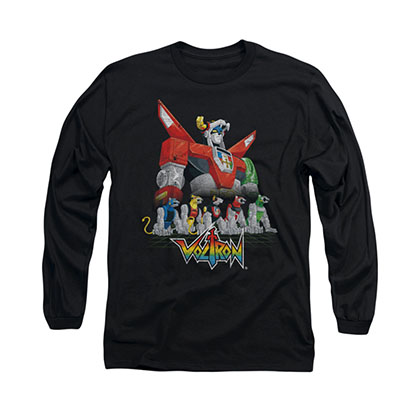 Voltron Lions Black Long Sleeve T-Shirt