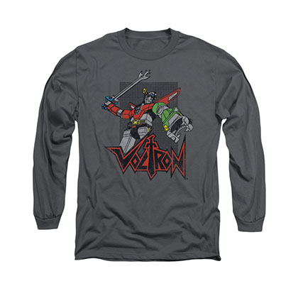 Voltron Roar Gray Long Sleeve T-Shirt