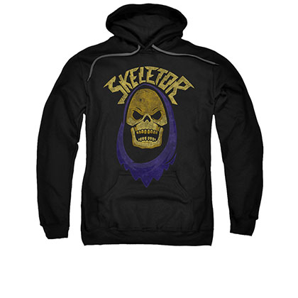 He-Man Skeletor Face Black Pullover Hoodie