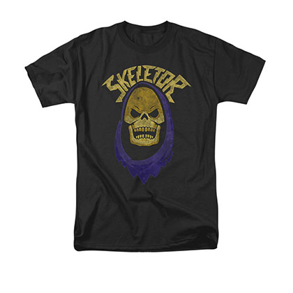 He-Man Skeletor Hood Black Tee Shirt