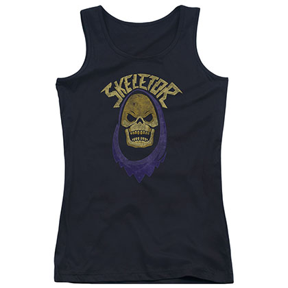 He-Man Skeletor Black Juniors Tank Top