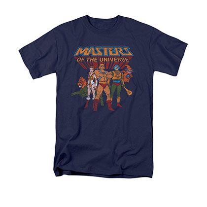 He-Man Masters Of The Universe Heroes Navy Blue Tee Shirt