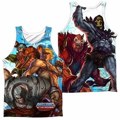 Masters Of The Universe Heroes And Villains Sublimation Tank Top