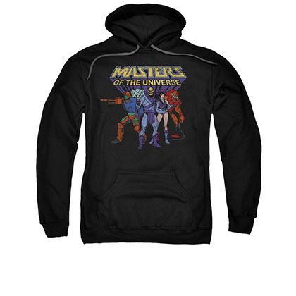 He-Man Masters Of The Universe Villains Black Pullover Hoodie