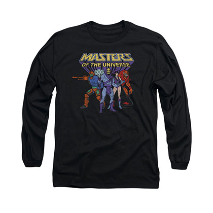 He-Man Masters Of The Universe Villains Black Long Sleeve T-Shirt