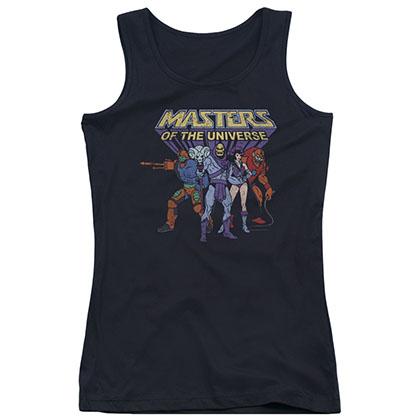He-Man Masters Of The Universe Villains Black Juniors Tank Top