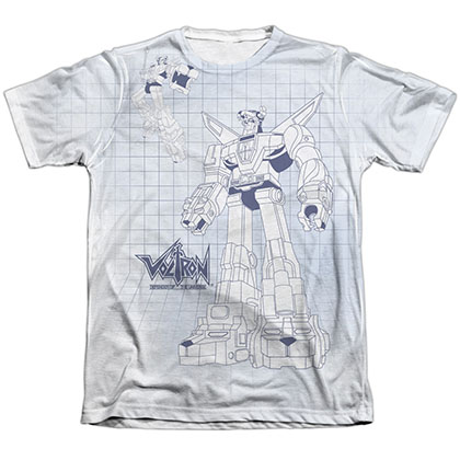 Voltron Blueprint Sublimation T-Shirt