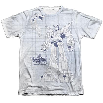 Voltron Blueprint Sublimation T-Shirt