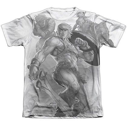 He-Man B&W Art Sublimation T-Shirt