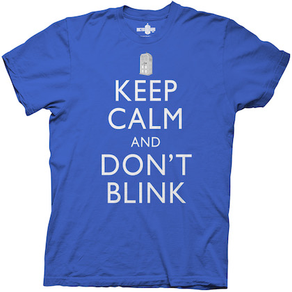 Doctor Who Keep Calm and Don't Blink Royal Blue Tshirt