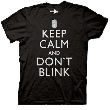 Doctor Who Keep Calm and Don't Blink Black Tshirt