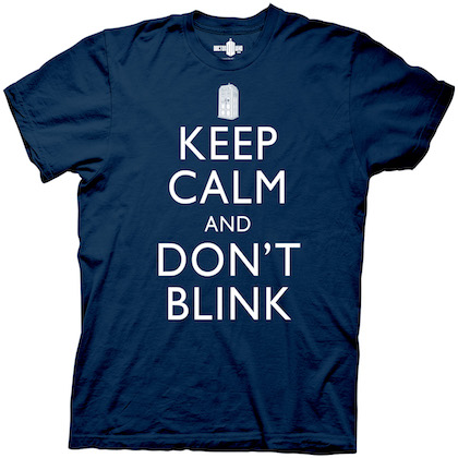 Doctor Who Keep Calm and Don't Blink Navy Blue Tshirt