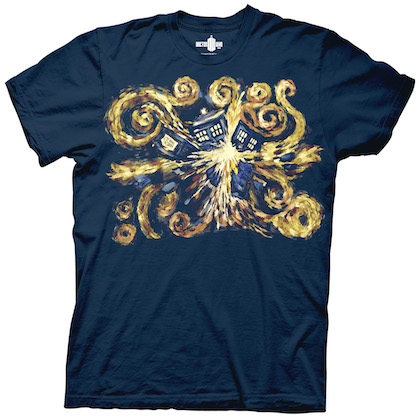 Doctor Who You Starry Night Tardis Navy Blue Tshirt