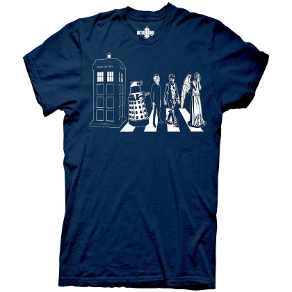 Doctor Who Abbey Road Navy Tshirt