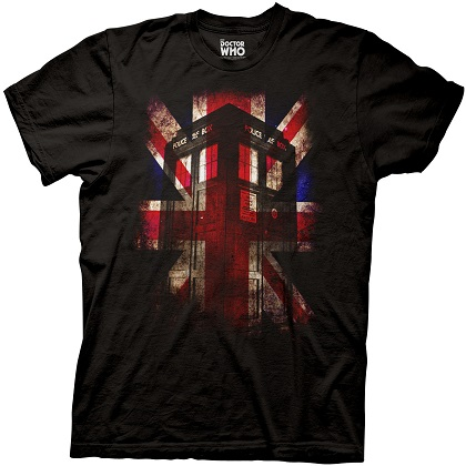Doctor Who Union Jack Tardis Tshirt