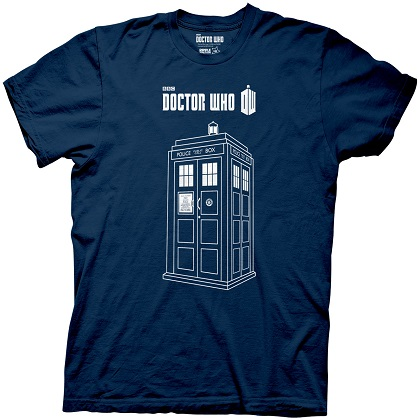 Doctor Who The Tardis Navy Blue Tshirt