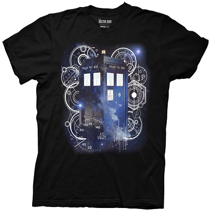 Doctor Who Tardis Outer Space Tshirt