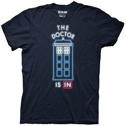 Doctor Who Neon Light Tardis Tshirt