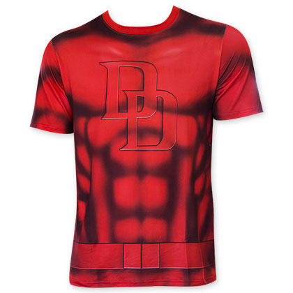 Daredevil Men's Red Sublimated Costume T-Shirt