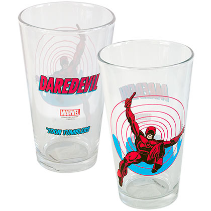 Daredevil Toon Tumbler Pint Glass