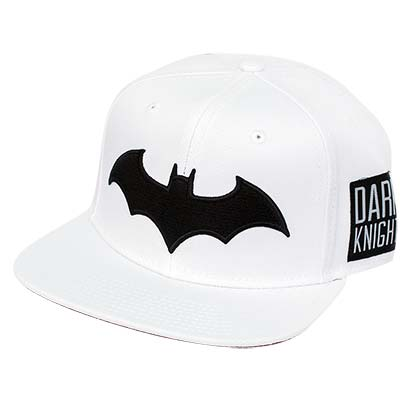 Batman White Snapback Black Patch Hat