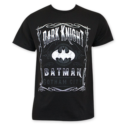 Batman Dark Knight Gotham City Jack Daniels Style Tee Shirt