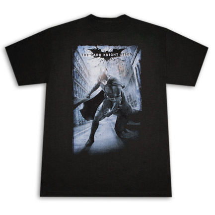 Batman Dark Knight Rises Poster T Shirt Black