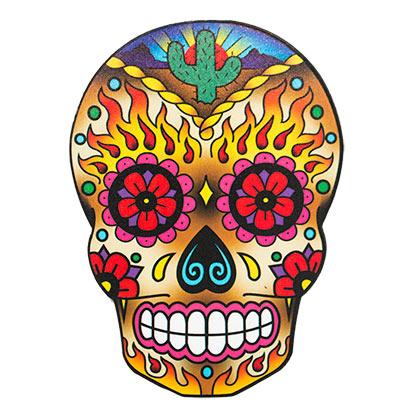 Dia De Los Muertos Funky Chunky Skull Magnet